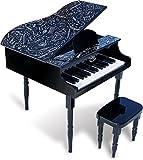 Vilac 8294 - Giocattolo prima infanzia, Grande piano a coda con sgabello, colore: Nero [Importato da Francia]