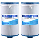 Clarathon 2 Replacement Filters for Lifesmart, Freeflow, AquaTerra, Hydromaster, Grandmaster, Simplicty, Bermuda Spas - 50SF [2-Pack]