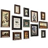 PSHH Marcos Cuadros Retro Marcos De Fotos Multiples Decoración Hogareña Hotel, Bar, Decoración De Cafetería. (Color : Brown, Size : 160 * 90cm)