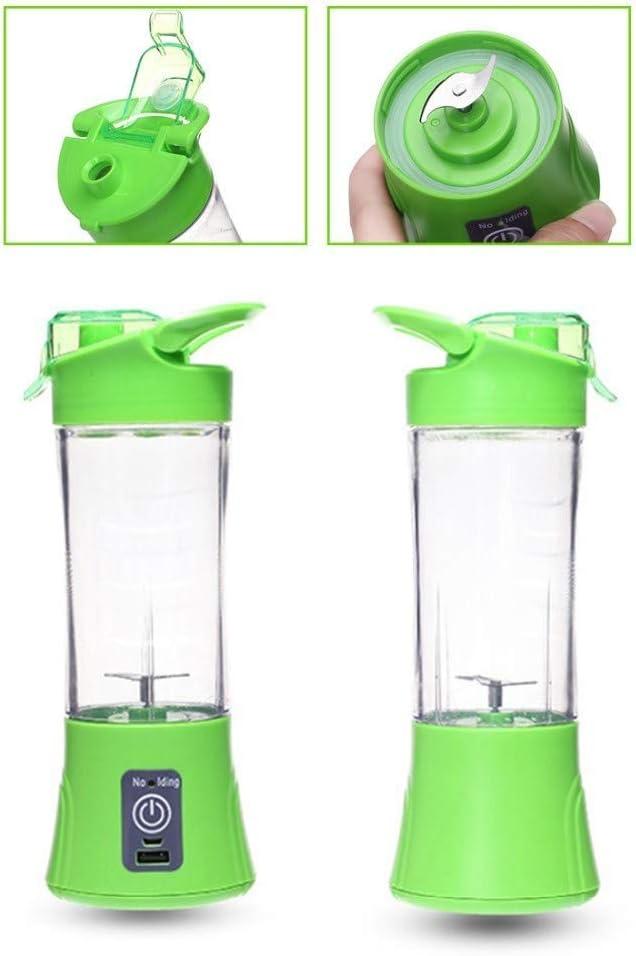Exprimidor De Jugo Eléctrico Multifunción Moda Recargable Portatil Mini Casa Copa Copa Jugo Exprimidor De Frutas,Pink Verde