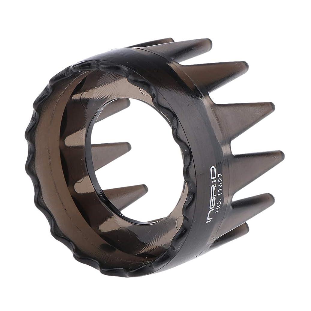 社会科絶壁ラジウムCUTICATE プラスチック製 シャンプーブラシ 洗髪櫛 マッサージャー ヘアコーム ヘアブラシ 直径約6cm 全4色 - 濃い灰色