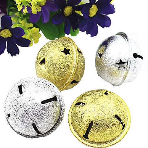 Nuluxi Mini Cascabeles Decoración Arbol de Navidad Metal Jingle Pequeñas Campanas Mini Metal Colores Cascabeles...