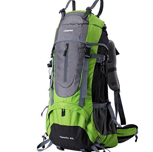 Sacs de voyage sac d'alpinisme extérieure grand voyage de randonnée sac à dos 60 l , green 60 liters