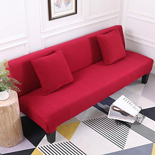 HOME-SOFA COVER Stretch sofabezug, 1 stück einfach modernes Vier Jahreszeiten Stretch universal schlafsofa -Weinrot 59-77inch(150-195cm)