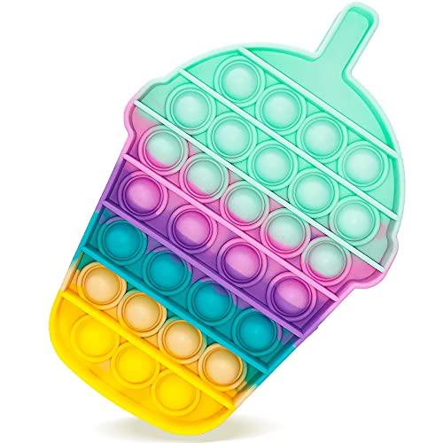 Pop Bubble Sensory Fidget Toys, Giocattoli per Alleviare lansia Antistress per Autismo Giocattoli Educativi Estrusione per Bambini Sensoriale Aiuta a Ripristinare Le Emozioni (Drink bottleA)