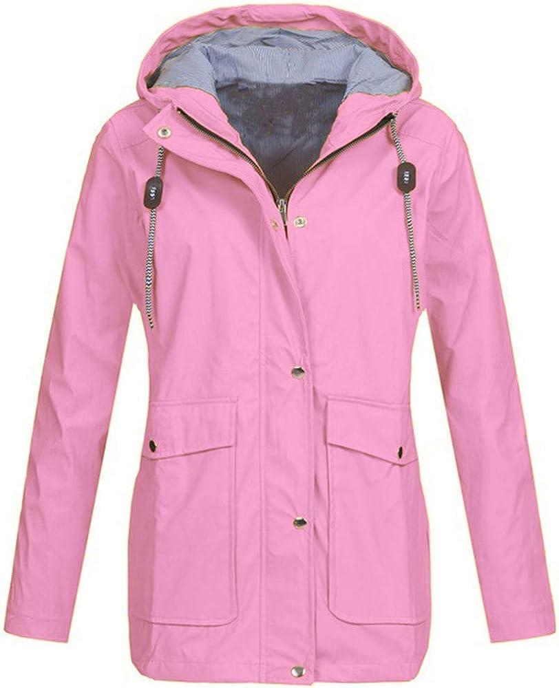 Bombing new work Women's Waterproof Raincoat Outdoor Windbreak Hooded Rain Jacket Limited time sale