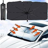 BOGI Car Windshield Sun Shade Umbrella, Foldable Car Window Sunshade with Storage Bag