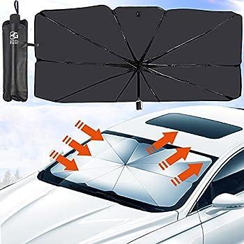 BOGI Car Windshield Sun Shade Umbrella with Storage Bag