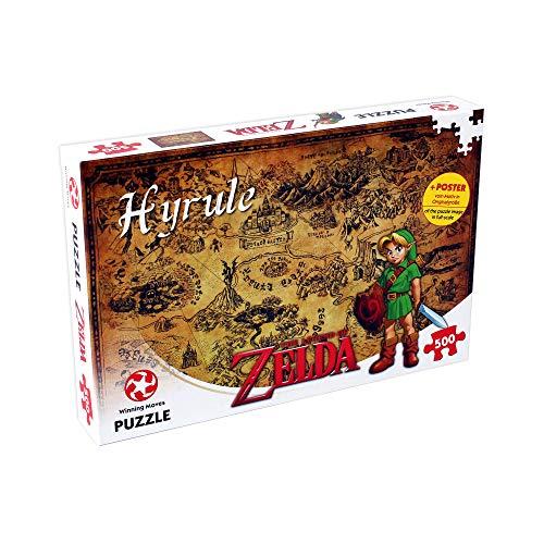 Winning Moves 29490 Puzzle The Legend of Zelda Hyrule Field, 500 Pezzi