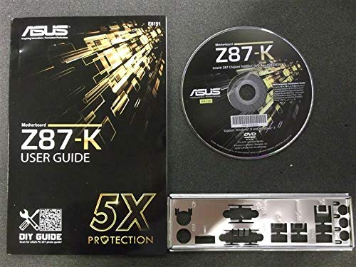 ASUS Z87-K Handbuch - Blende - Treiber CD