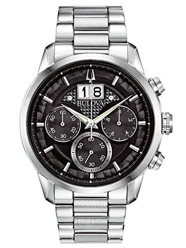 Bulova Herren Analog Quarz Uhr mit Edelstahl Armband 96B319