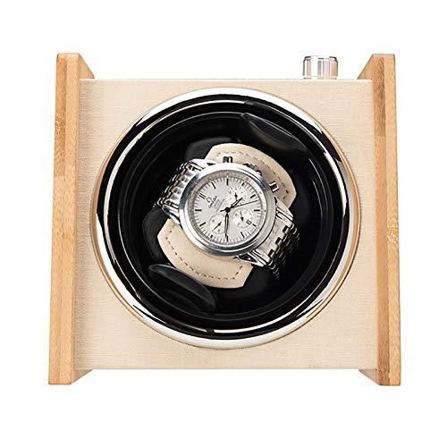 LRL Reloj Windoer - Caja de enrollamiento de Madera de Madera Doble Fuente de alimentación Dual Dispositivo Giratorio Mecánico automático Caja de Almacenamiento de biselas silencioso