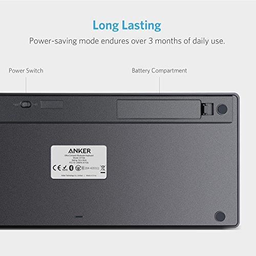 Bluetooth Ultra-Slim Keyboard for iPad Air 2 / Air, iPad Pro, iPad...