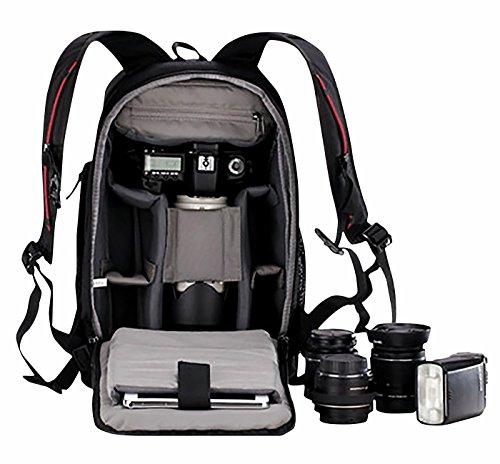 Ortex Kamerarucksack Outdoor Rucksäcke Wasserdicht Fotorucksack DSLR Reiserucksack Groß Laptoprucksack SLR-Kamerarucksack Backpack Wanderrucksäcke