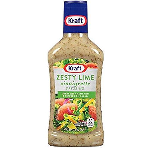 Kraft Zesty Lime Vinaigrette Dressing (Pack of 3) 16 oz Bottles