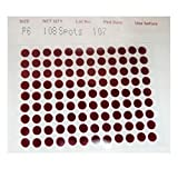 Eyetex Pallavi 3in1 Sticker Kumkum - Maroon Color - Size P6 (Pack of 15)