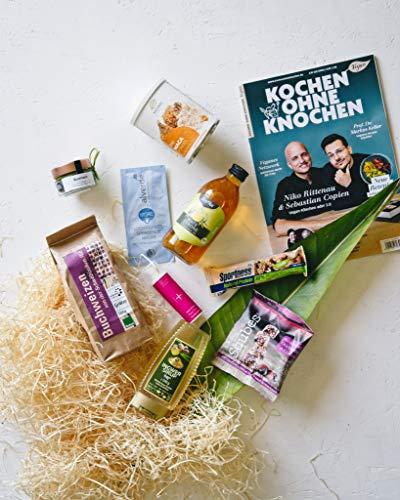 Vegan Box Classic, Überraschungsbox, Geschenkbox, vegane Lebensmittel, vegane Kosmetik