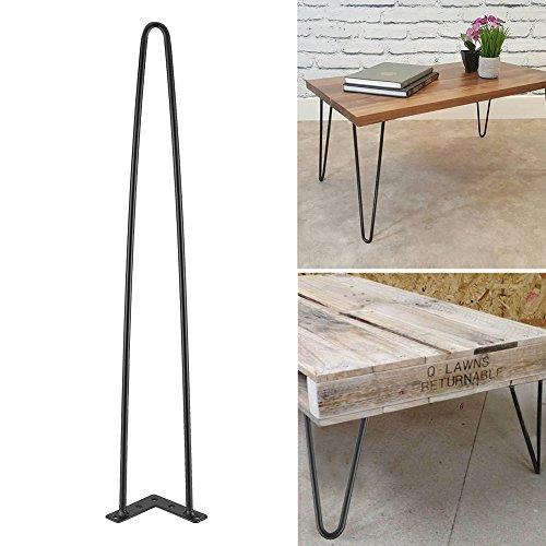 Patas de escritorio de mesa 4Pcs,patas de muebles de hierro negro,Patas de la Mesa de Hierro para Muebles Artesanales DIY Con Tornillos para colocar en el comedor, sala de estar(28 pulgadas)