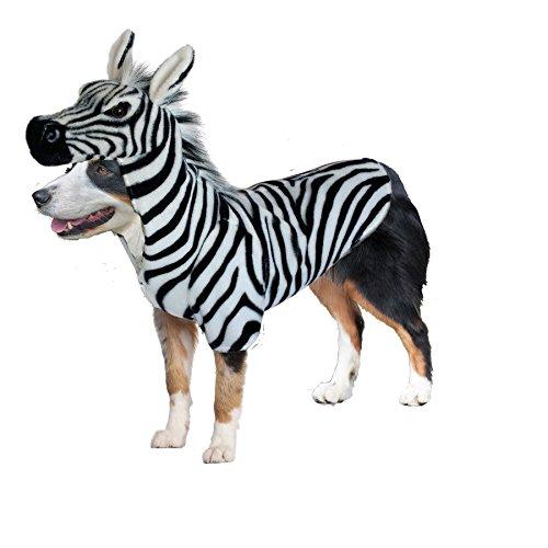 Amazing Pet Products Doggy Wannabe Comfy Creature Coats Costume Zebra Large