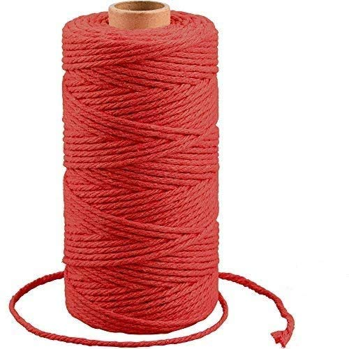 Cuerda de algodón G2PLUS 100M, cuerda de macramé, cuerda de algodón natural, cuerda de macramé, hilo de macramé de 3 mm, para decoración, tejido para envolver regalos