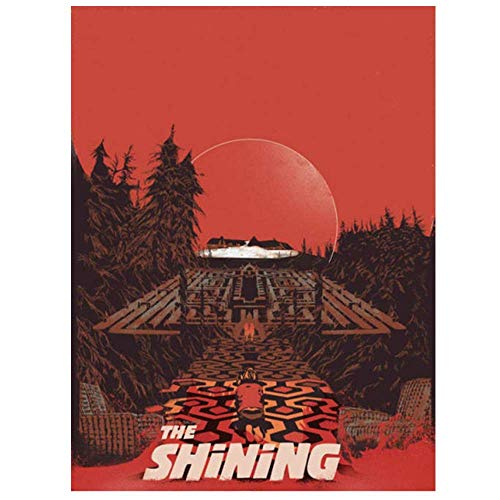 The Shining Movie Poster Tin Sign Retro Horror Wall Decoration Home Bar Club Cinema Cafe Bedroom Garage Art Deco Creative Gift Collection 8x12 Inch