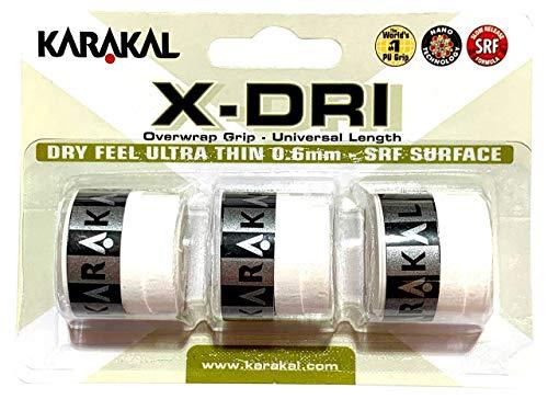 Karakal X-DRI grips de Tenis Badminton - Squash -- Blanco blanco