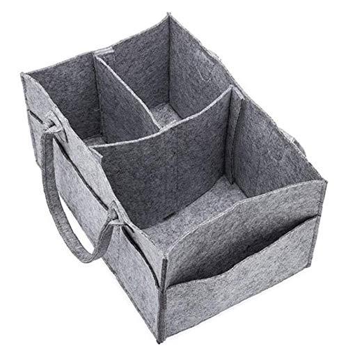 Baby Diaper Organizer Multifunción Pañal Caddy Organizing Fielns Basket, con Compartimentos Removibles para La Habitación De Los Niños, Coche Y Viajes