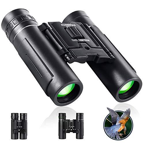 Prismáticos compactos pequeños de 10 x 25 para niños y adultos, mini prismáticos de bolsillo para observación de aves, viajes,...