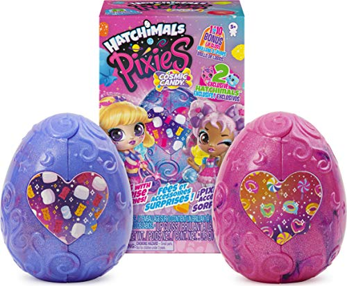 Hatchimals Pixies, Cosmic Candy Pixies 2-Pack with 4 Accessories and 2 Exclusive CollEGGtibles (Styles May Vary)