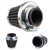 SDUIXCV Accesorios para Motocicletas Pinza Metalizada Ovalada En El Filtro De Aire del Embudo De Rehenes (Color : 48mm)