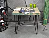 Livitat Beistelltisch Couchtisch 40 x 40 cm Metall Industrie Look Vintage Loft Living LV50265
