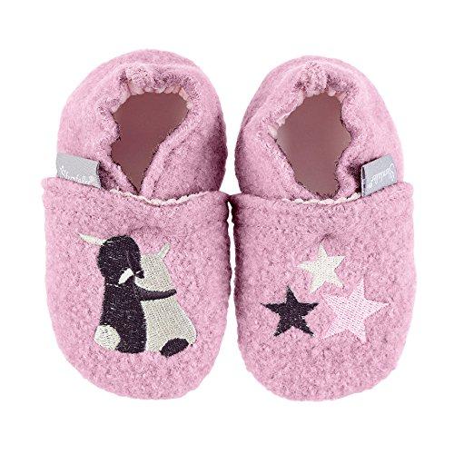 Sterntaler Baby Mädchen Krabbel-& Hausschuhe, Pink (Geranie 723), 17/18 EU
