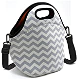 Baselife Insulated Neoprene Lunch Bag Zipper Washable Stretchy Waterproof Outdoor Picnic Outdoor Travel