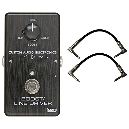 Dunlop MXR MC401 CAE BOOST Custom Audio Electronics Pedal w/ 2 Cables