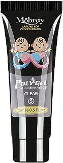 Mobray Poly Gel Extend Builder Polygel Finger Nail Extension UV LED Acrylic Builder Gel (#5 Clear_15ML)