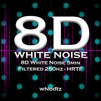 8D White Noise 5min Filtered 250hz - HRTF (feat. Mind Reset 437)