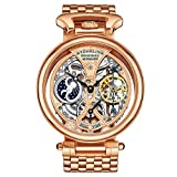 Stuhrling Original Men's Automatic Watch with Rose Gold Dial Analogue Display and Rose Gold Stainless Steel Bracelet 797. 03