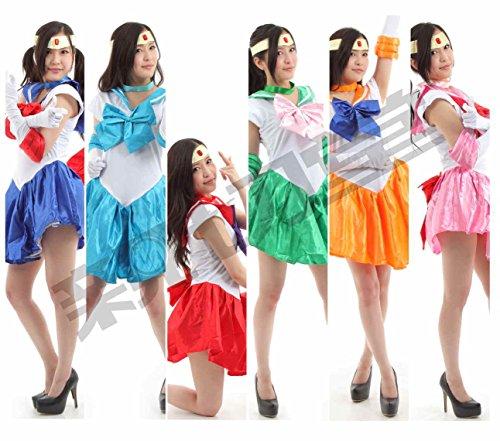 『超なりきり! 美少女戦士大集結!! セーラームーン コスプレ衣装 豪華7点セット (XLサイズ, ちびうさ(桃))』の1枚目の画像