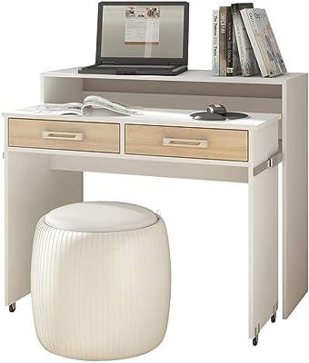 Selsey Bureau, Blanc Mat/chêne Sonoma Mat, 39 x100 x 88 cm