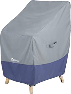 EXPECTLAND Patio Chair Cover, Waterproof - 100% Weather Resistant - 600D Heavy Duty - Stackable/Outdoor Furniture Cover with Drawstring High-Back Chair Patio Furniture Cover - 34W x 29D x 41H inch