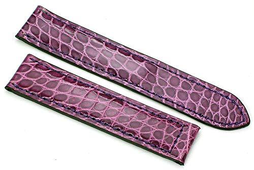 19mm Alligator armband passend bij Cartier vouwsluiting Duits handwerk violet