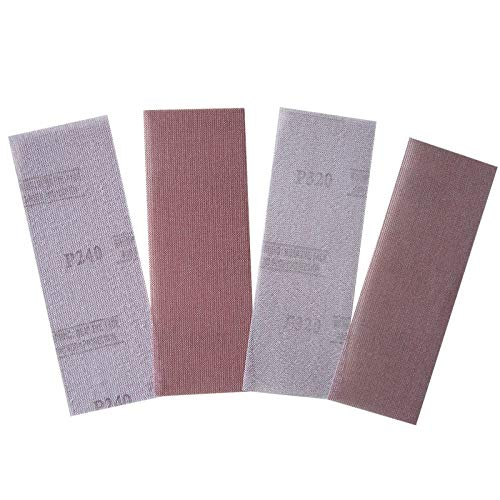 GIPOTIL Discos de lijado sin polvo abrasivos de malla de 10 piezas 198 * 70 mm Papel de lija de lijado en seco antibloqueo de grano 80 a 320, 180