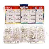 BOJACK 10 colores 400 piezas 3 mm LED Luces de diodo assored Kit Lámparas de iluminación brillante Componentes de componentes electrónicos 3 mm Piezas de diodos emisores de luz