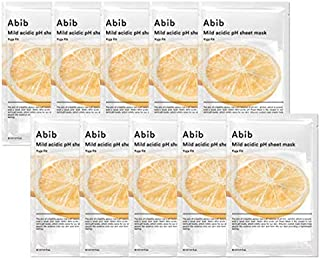 [Abib] Mild acidic pH sheet mask Yuja Fit 30ml (10pcs)