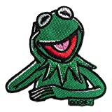 Disney © The Muppets Kermit der Frosch - Aufnäher, Bügelbild, Aufbügler, Applikationen, Patches, Flicken, zum aufbügeln, Größe: 7,2 x 7 cm