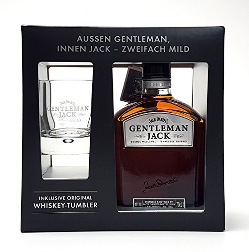 Jack Daniels Gentleman Jack 0,7l 700ml (40% Vol) + Tumbler 2/4cl geeicht
