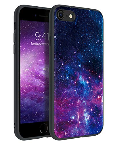 BENTOBEN iPhone SE 2020 Case, iPhone 8 Case, iPhone 7 Case, Slim Fit Glow in The Dark Shockproof Drop Protective Hybrid Hard PC Soft TPU Bumper Girls Women Cover for iPhone SE2/8/7 4.7', Space/Nebula