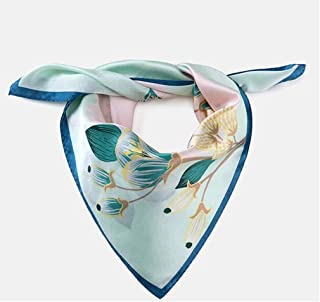 Xxadliy Ms. Square Neck Neck Scarf Small Scarf Print Small Square Scarf, Size: 53x53cm (Color : Blue, Size : 53x53cm)