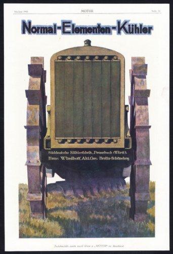 Antiguo ThePrintsCollector cruzerlite-publicidad-radiador-kühlerfabrik-AUTO muelles de hierro fundido de motor-1917