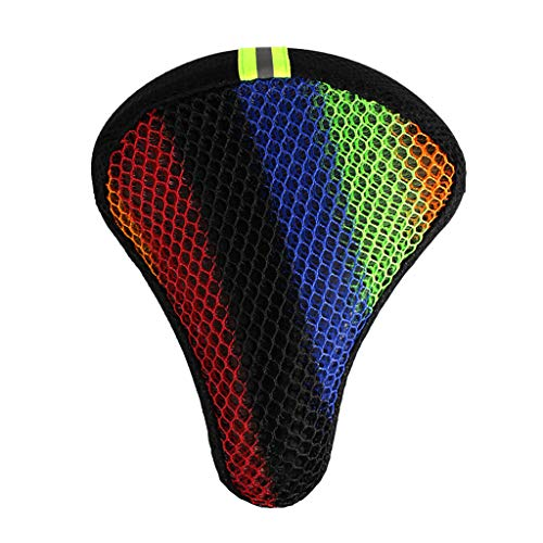 MerryWould Cubierta de sillín de Bicicleta, cojín de Asiento de Bicicleta súper Suave, con Amortiguador Universal de Cuatro Estaciones con Funda Anti-Polvo y Impermeable (Multicolor)